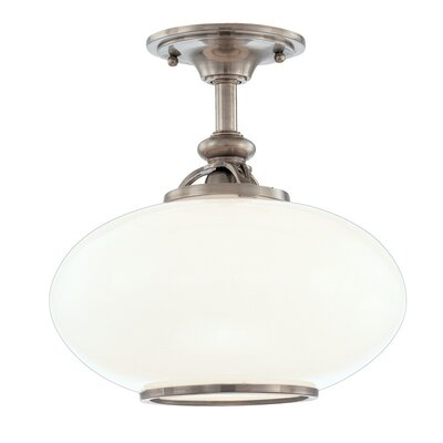 Monica 9 1-Light Semi Flush Mount Finish: Old Nickel, Size: 12H x 12W