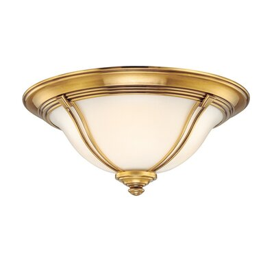 Emjay Flush Mount Size / Finish: 5.5 / Flemish Brass