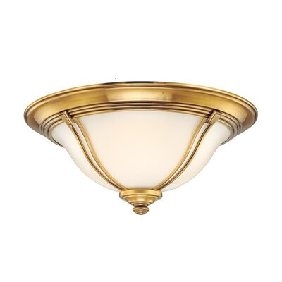 Emjay Flush Mount Size / Finish: 6.5 / Flemish Brass