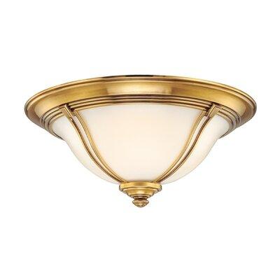 Emjay Flush Mount Size / Finish: 7.25 / Flemish Brass