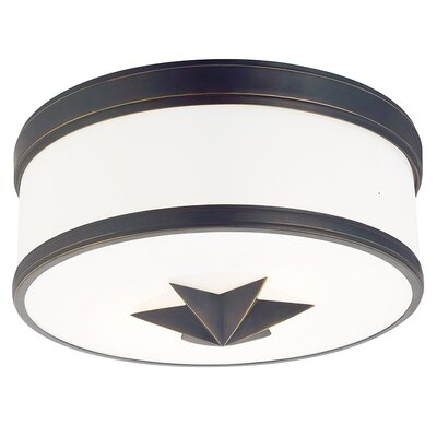 Kelsie 2-Light Flush Mount Finish: Old Bronze