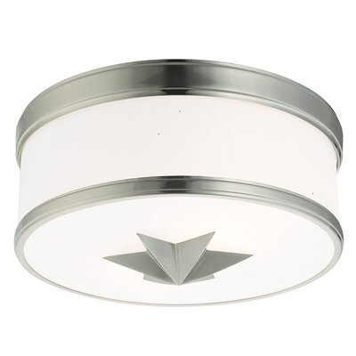 Kelsie 2-Light Flush Mount Finish: Satin Nickel