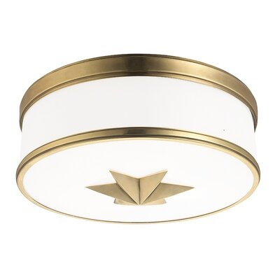 Kelsie 3-Light Flush Mount Finish: Aged Brass