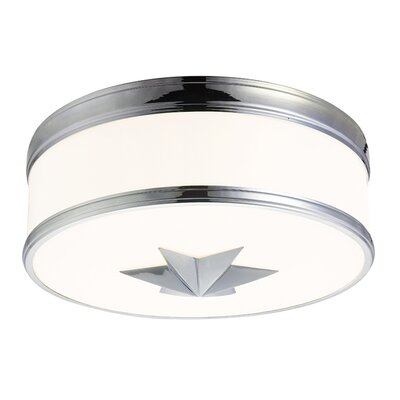 Kelsie 3-Light Flush Mount Finish: Polished Chrome