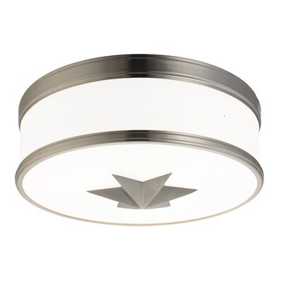 Kelsie 3-Light Flush Mount Finish: Satin Nickel