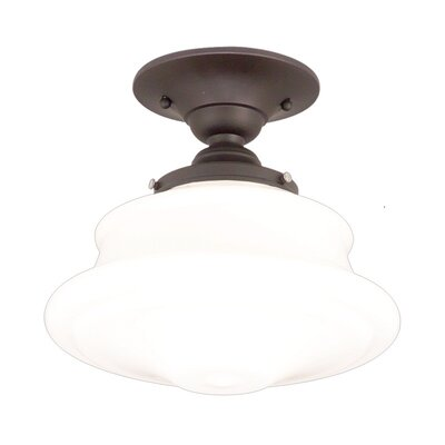 Petersburg 1-Light Semi-Flush Mount Finish: Old Bronze