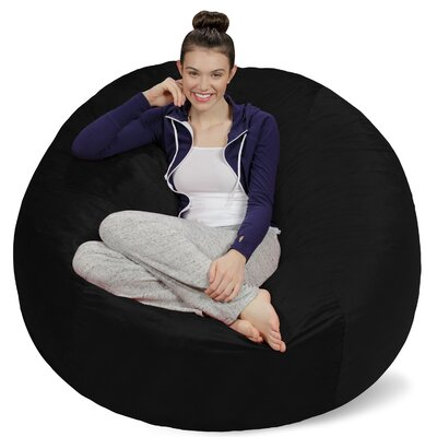 Bean Bag Sofa Upholstery: Black