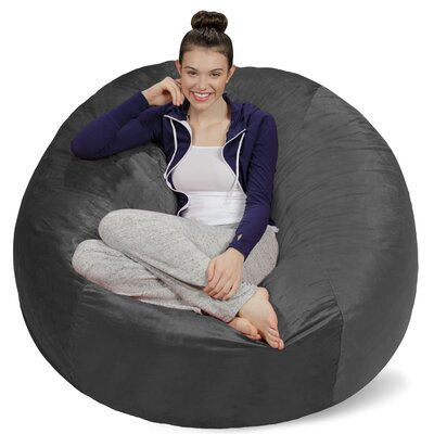 Bean Bag Sofa Upholstery: Grey
