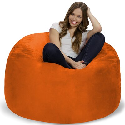 Bean Bag Chair Upholstery: Orange