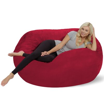Bean Bag Sofa Upholstery: Cinnabar