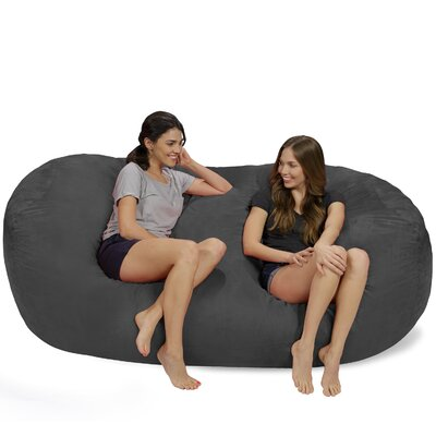 Bean Bag Sofa Upholstery: Charcoal
