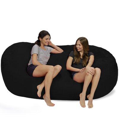 Bean Bag Sofa Upholstery: Black