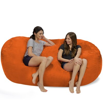 Bean Bag Sofa Upholstery: Orange