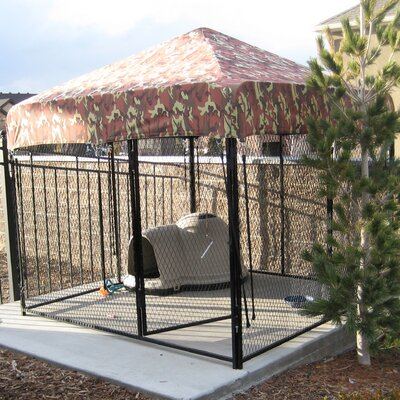 Basic Expanded Metal Yard Kennel Size: 72 H x 96 W x 96 L, Color: Beige