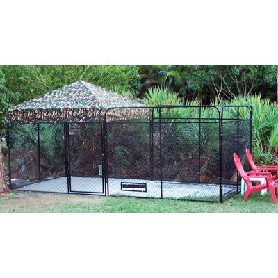 Basic Expanded Metal Yard Kennel Size: 72 H x 96 W x 96 L, Color: Camouflage