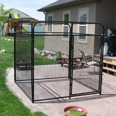 Basic Expanded Metal Yard Kennel Size: 72 H x 72 W x 144 L