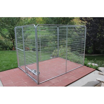Basic Galvanized Steel Yard Kennel Size: 72 H x 72 W x 144 L