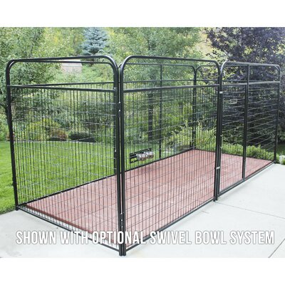 Allie Welded Wire Steel Yard Kennel Size: 72 H x 72 W x 192 L
