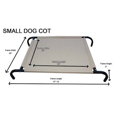Heavy-Duty Canvas Cot Dog Furniture Style Size: Small (24 - 37.5 L x 20 W)
