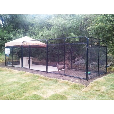 Ultimate Expanded Metal Yard Kennel Size: 72 H x 72 W x 120 L, Color: Beige