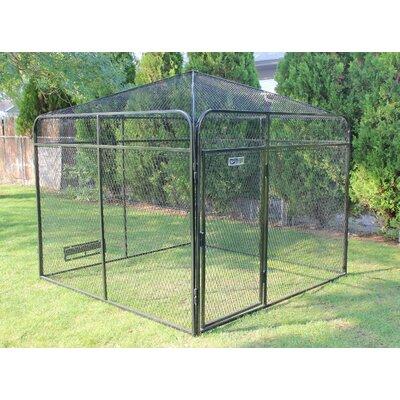 Basic Peaked Yard Kennel Top Size: 90 H x 96 W x 96 L
