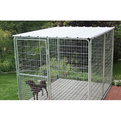Basic Corrugated Yard Kennel Metal Top Size: 0.01 H x 96 W x 96 L