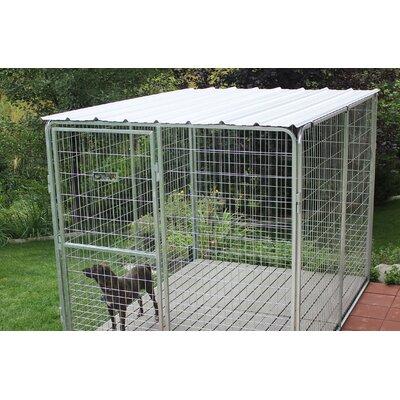 Basic Corrugated Yard Kennel Metal Top Size: 0.01 H x 72 W x 72 L