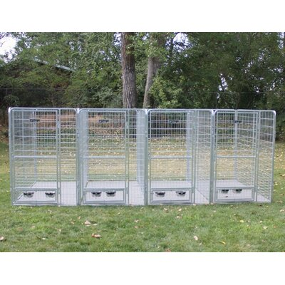 Arielle 4 Dog Galvanized Steel Yard Kennel