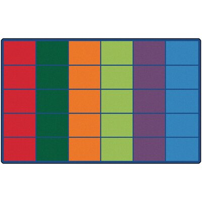 Emmanuelle Colorful Rows Seating Area Rug Number of Square Spaces: 36