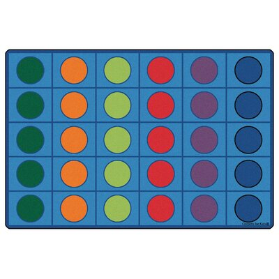 Blue Seating Circles Kids Rug Rug Size: Rectangle 8 x 12