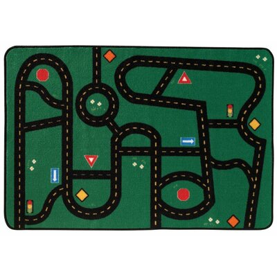 Go Go Driving Kids Area Rug Rug Size: 4 x 6