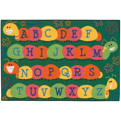 Caterpillar Friends Kids Rug Rug Size: 3 x 46