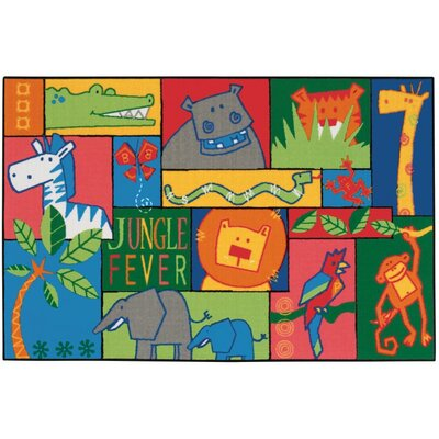 Jungle Fever Kids Area Rug Rug Size: 3 x 46