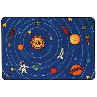 Spaced Out Kids Area Rug Rug Size: Rectangle 4 x 6