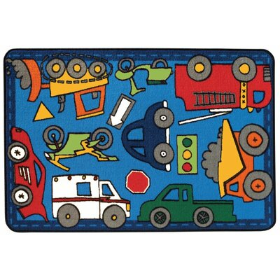 Wheels on the Go Kids Rug Rug Size: 4 x 6