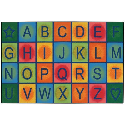 Simple Alphabet Blocks Kids Rug Rug Size: 4' x 6'