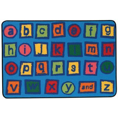 Alphabet Blocks Kids Rug Rug Size: 4 x 6