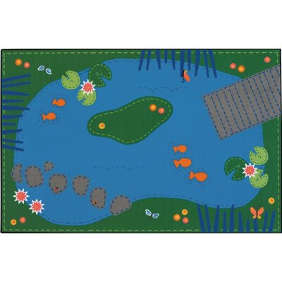 Tranquil Pond Kids Rug Rug Size: Rectangle 4 x 6