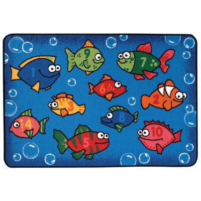 Something Fishy Kids Rug Rug Size: 4' x 6'