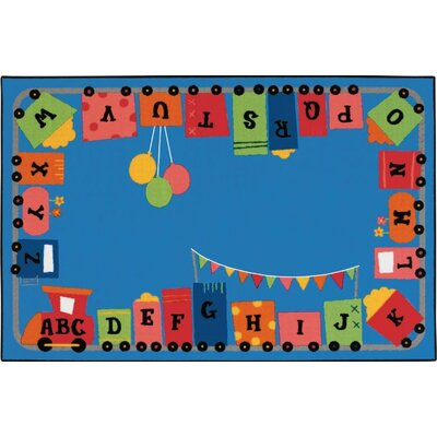 Alphabet Fun Train Kids Rug Rug Size: 6' x 9'