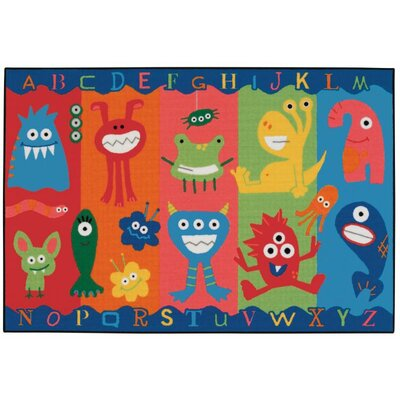 Alphabet Monsters Kids Area Rug Rug Size: 4 x 6