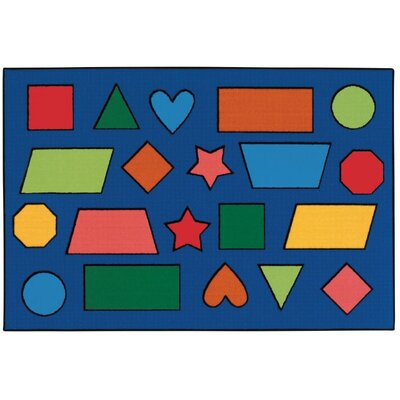 Color Shapes Kids Rug Rug Size: Rectangle 3 x 46