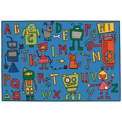 Reading Robots Kids Rug Rug Size: 3 x 46