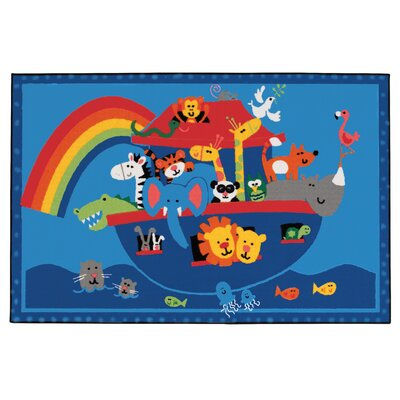 Noahs Animals Kids Rug Rug Size: 3 x 46