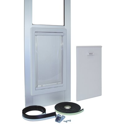 Medium Tall Pet Door Color: White