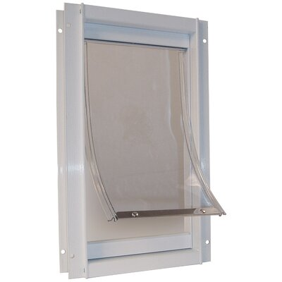 Newsom White Deluxe Pet Door Size: Medium