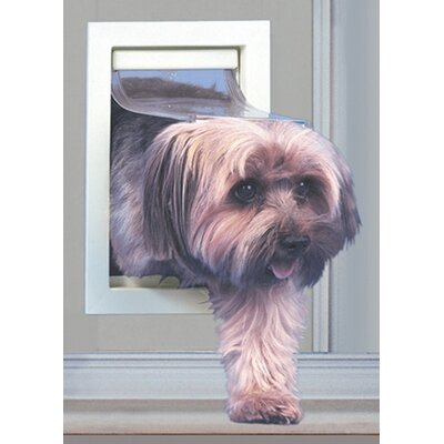 Small Modular Patio Panel Pet Door Color: Mill