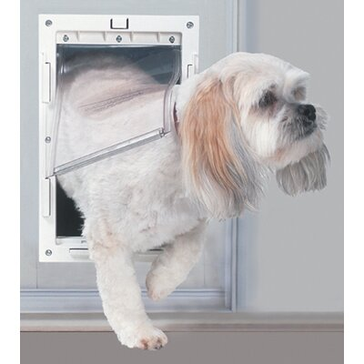 Medium Patio Pet Door Color: White