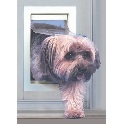 Small Patio Pet Door Color: Mill