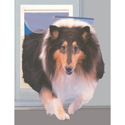 Extra Large Patio Pet Door Color: White